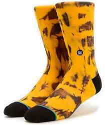 New with Tags Stance Socks quot;Burnoutquot; Gold L 9 12 Casual Crew Cotton $14.99