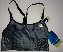 Champion Sports Bra Top Women#x27;s XS Black Gray NEW WITH TAGS FREE SHIPPING $11.99