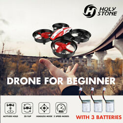 Holy Stone HS210 Mini Drone Helicopter RC Quadcopter 3D Flip Fly Toys 3 Battery $24.99