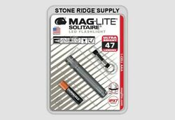 Maglite Solitaire LED 1 Cell AAA Flashlight Keychain SJ3A096 Gray 47 Lumens USA $18.98