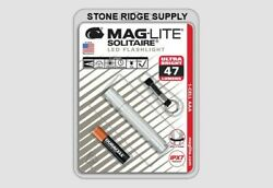 Maglite Solitaire LED 1 Cell AAA Flashlight Keychain SJ3A106 Silver Auto GIFT $18.98