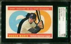 1960 Topps All Star High Number #565 Roger Maris SGC 7.5 86 NM $175.00