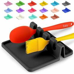 Utensil Rest Drip Pad Silicone Heat Resistant Spoon Holder Stove Top Kitchen Kit $19.34