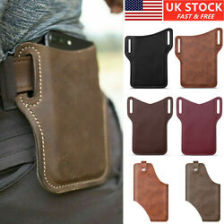Men Cell Phone Belt Pack Bag Loop Waist Holster Pouch Case Leather Wallet Cover $7.95