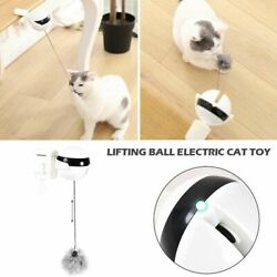 Flutter Puzzle Rotating Pet Supplies Cat Teaser Toy Yo Yo Lifting Ball Cat Toy $11.12