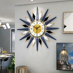 25quot; Sunburst Large Wall Clock Modern 3D Oversized Colorful Wall Watch Home Decor $58.39