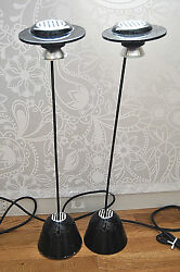 MID CENTURY MODERN HI FI LUCI TABLE PAIR LAMPS DESIGN G. MEDEOT MADE IN ITALY $345.97