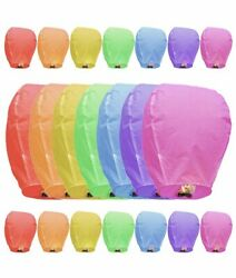 21 Paper Chinese Lanterns Assorted Colors For Wish Birthday Wedding Party $39.99