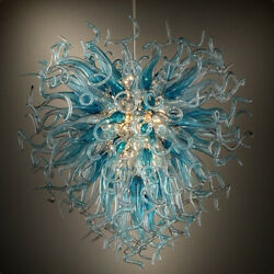 Luxury LED Chandelier Hand Blown Glass Chandeliers For Living Room hanging light $1699.99
