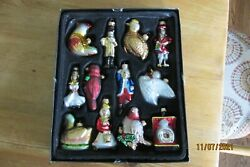 Vintage lot of 12 days of Christmas Tree Ornaments $40.00