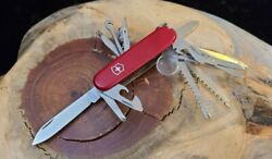 Victorinox Champion Plus Swiss Army Pocket Knife Red Great Condition J90 $61.95