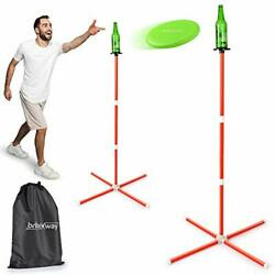 Bottle Game Ring Toss Outdoor Game with Adjustable Poles Back Yard Game $51.29