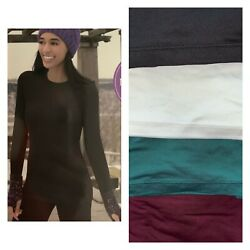 Cuddl Duds Chill Chasers Stretch Microfiber Long Sleeve Crew Top CD8485 $12.99