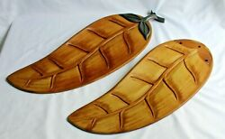 Large OUTDOOR Brown Wood Leaf Ceiling Fan Replacement Blade For 5 Blade Fan