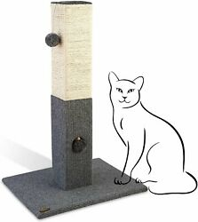 """PAWBEE Cat Scratching Post 32"""" Tall Cat post with Softball amp; Jingle Bell Toy $34.99"""