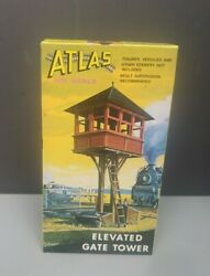 Vintage Atlas Kit 701 HO Elevated Gate Tower Building NOS NEW OPEN BOX $12.99