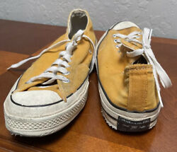 Vintage Converse Chuck Taylor All Star Sneakers Yellow 12 Men's Made In USA $250.00