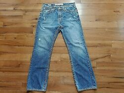 MENS BIG STAR FOR BUCKLE VOYAGER STRAIGHT RELAXED BLUE DENIM JEAN SZ 31 REGULAR $24.00