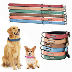 Large Dog Puppy Leather Adjustable Neck Strap Pet Supplies Dog Collar Necklace $9.28