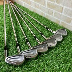 Mizuno MP 60 Cut Muscle Dynamic Gold Flex S200 5 9 Pw 6 pieces Iron Set Used $200.99