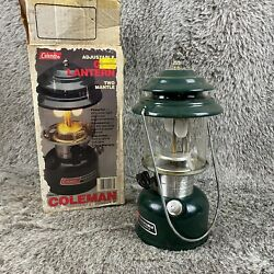 Vintage Coleman Lantern Glass Light Marked 5 87 with Box and Manual 288A700 $54.99