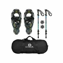 OUTBOUND Snowshoes Kit Lightweight Aluminum Snowshoes with Adjustable Poles... $87.38