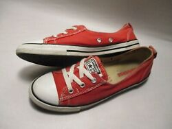 Converse All Star Womens size 9 Ballet Lace Slip on Red Canvas 547166C Sneakers $20.98