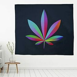 Tapestry Wall Hanging for Bedroom Weed Cool Hippie 51 x 59 Inch Trippy Weed $7.71