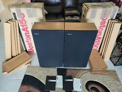 BOSTON ACOUSTICS A150 3 WAY FLOOR VINTAGE SPEAKERS W BOXES amp; INSERTS SEE PICS $399.99