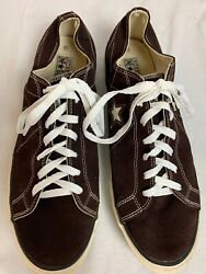 Converse One Star Mens 13 M Black Brown Suede Leather Skate Shoes Casual Sneaker $39.99