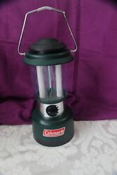 Coleman Battery Powered Dual Fluorescent Bulb Lantern #5344 700 Tested $14.95