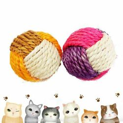 Rolling Kitten Playing Funny Pet Supplies Cat Scratch Toy Sisal Balls Cat Toy $6.37