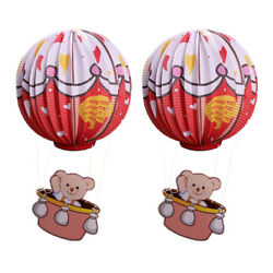2Pcs Paper Lanterns Paper Hot Air Balloons Party Lantern Ornaments for Home C $12.15