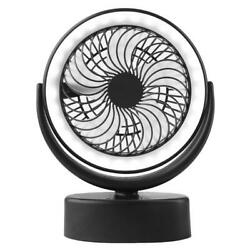 Portable USB Camping Fan with LED Lantern Rechargeable 4000mAh Battery Operated $28.38