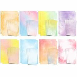Stationary Paper and Envelopes Set 48 Pack of Watercolor Letter Writing Paper $21.43