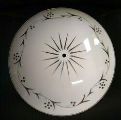 Vintage Bedroom Round Ceiling Light Cover Bowl Shade Floral Fixture White 15quot; $29.99
