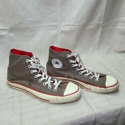 Converse All Star Size 9 Men's Athletic Casual High Top Sneaker Brown And Red $34.95