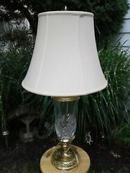 Vintage Stiffel cut crystal and brass table lamp with genuine Stiffel lamp shade $59.99