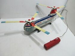 PRESIDENTIAL AIRWAYS LARGE HELICOPTER BATTERY OPERATED I TESTED WORKS JAPAN $200.00