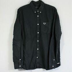 Fred Perry Mens Large Embroidered Logo Pocket Button Up Shirt A856 $19.95
