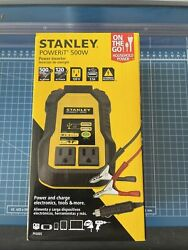 Awesome STANLEY PI500S POWERiT Power 500W Car Converter: Dual AC Outlets 3.1A $55.00