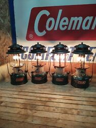 COLEMAN LANTERN MODEL 220F LOT OF 4 No Globe Tested All Work $109.99