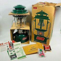 Coleman 220F195 Two Mantle Green Lantern w Box amp; Brochures January 1971 $134.50