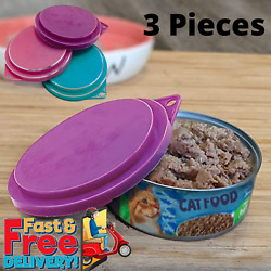 Pet Food Can Covers Assorted Colors 3 1 2 Inches Dogs Cats Pets Lids Set Of 3 $2.50
