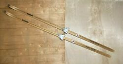 Vintage WOODEN Skis #x27;Trak HP 9#x27; 77quot; Long Downhill Cross Country Finland Made $125.99