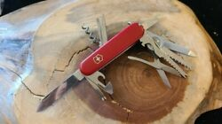 Victorinox Champion Plus Swiss Army Pocket Knife Red Great Condition P32 $59.95
