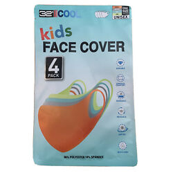 Kids Face Mask Cover 32 DEGREES COOL UNISEX One Size 4 Pack $19.99