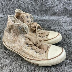 Converse Chuck Taylor All Star Mid Gold Glitter 532135C Womens Size 9 $32.75