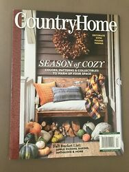 COUNTRY HOME FALL 2021 quot;SEASON OF COZYquot; $9.75