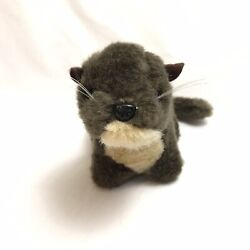 American Rivers Otter Plush Brown Soft Whiskers Stuffed Wild Animal Nature Toy $22.49